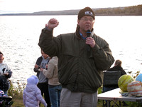 Eric Norland gives a speech at the Harvest Moon Festival